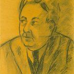 MIO PADRE, 1962  Carboncino su carta ocra cm 41x57