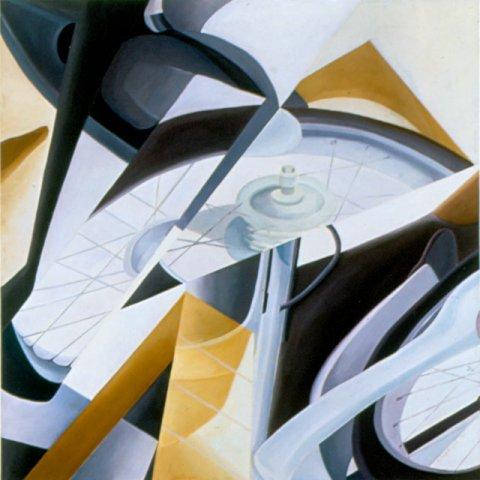 MOVIMENTO, 1989  Olio su tela cm 100x100