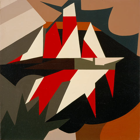 NAVE, 1974  Acrilico su tela cm 60x60