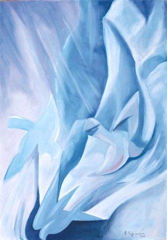 NEBBIE, 2002 (aria)   Olio su tela cm 35X50