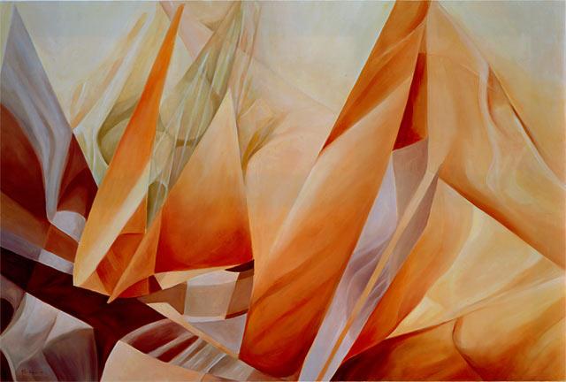 NEL SOLE, 1997 Olio su tela cm 150x100