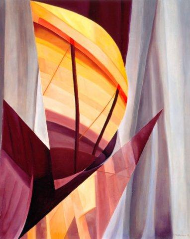 A NETTUNO…,1997 Olio su tela cm 80x100