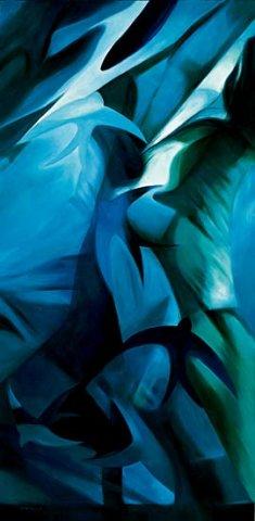 NOTTURNO, 2005 (acqua) Olio su tela cm100x200