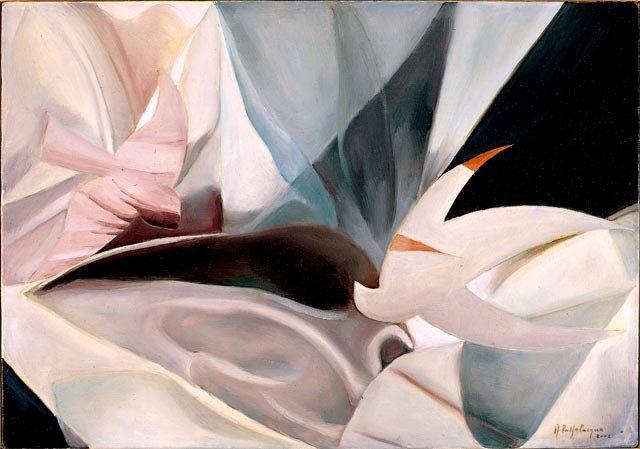 NUVOLE, 2002 (aria)  Olio su tela cm 50x35