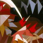 OMAGGIO A BALLA, 1973  Acrilico su tela cm 130x130