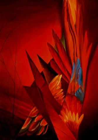 OMBRE, 2003 (fuoco) Olio su tela cm 70x100