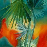 LE PALME DELL'OASI, 1998 Olio su tela cm 90x60
