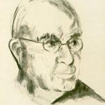 RITRATTO DI JOHN DOS PASSOS, 1963 Carboncino su carta avorio cm 35x50