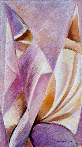 RIFLESSI DI LUCE, 1998 Pastello su carta cm 22x38