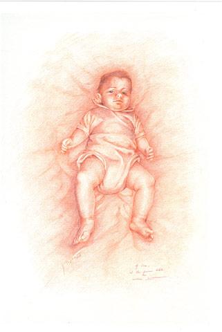 MIA NIPOTE SARA, 2007 Sanguigna su carta cm 35x50