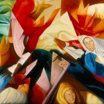 SCHEGGE DI MEMORIA, 1988  Olio su tela  cm 200x150