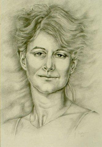 RITRATTO DI STEFANIA SEVERI, 1995 Matite su carta cm 35x50