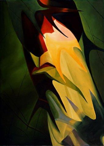 SILENZIO, 2002 (terra) Olio su tela cm 50x70