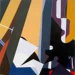 SINFONIA, 1976  Acrilico su tavola cm 90x90