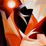 SOLI, 2002 (fuoco) Olio su tela cm 40x30