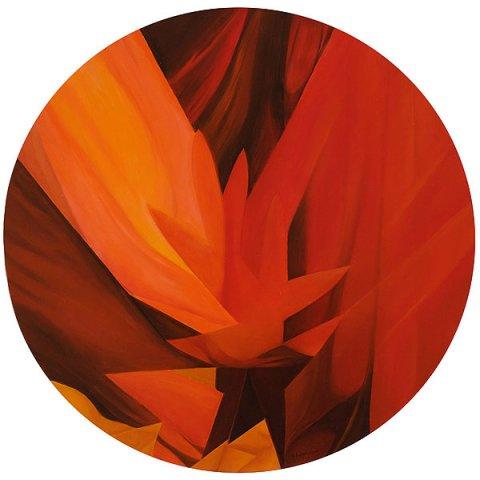 TRAMONTO, 2011 Olio su tela diametro cm 80