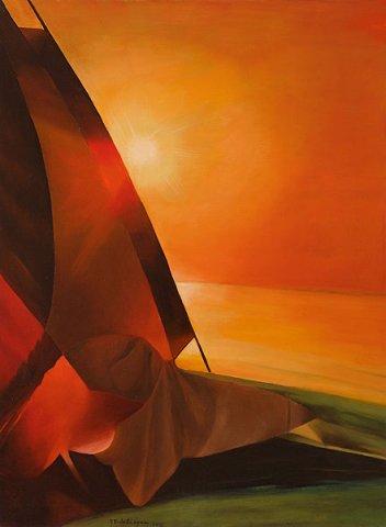 TRAMONTO A NETTUNO, 2012 Olio su tela cm 60x80