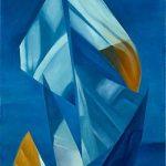 LA VELA DI ULISSE, 1997 Olio su tela cm 70x130
