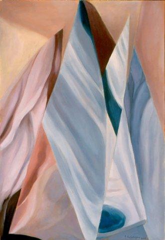 VELE DI GHIACCIO, 2001 Olio su tela cm 35x50