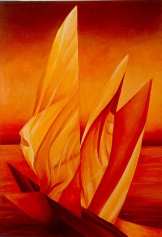 LE VELE SUL NILO, 1997 Olio su tela cm 70x100