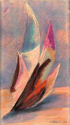 VERSO L'ALBA, 1997 Pastello su carta cm 21x37