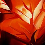 VISIONE, 2005 (fuoco) Olio su tela cm 150x100