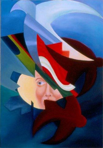 VOLO DI RONDINI, 1985 Olio su tela cm 50x 70