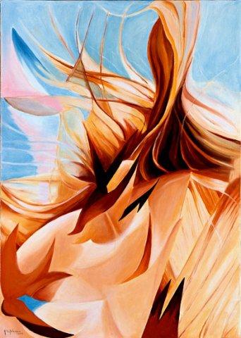 VORTICE, 2003 (terra) Olio su tela cm 50x70