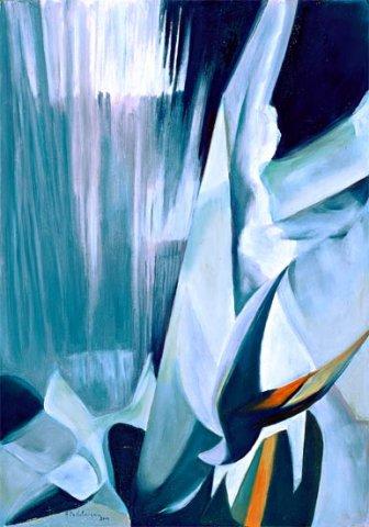 VUOTO, 2002 (aria)    Olio su tela cm 35x50